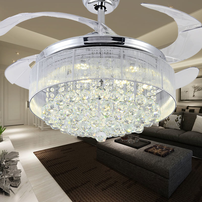 ceiling fan with crystals